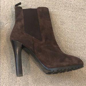 Ralph Lauren brown suede ankle boots